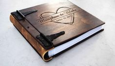 This handmade wooden book is made to order from hand cut and sanded wooden sheets stained using layering technique to give each book a unique rustic look. Each book also includes genuine leather and metal hardware embellishments. This book can be customized to suit your particular needs by requesti