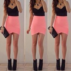 High waist skirt, Waist skirt and Black bows on Pinterest