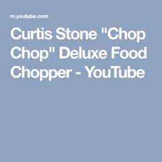 """Curtis Stone """"Chop Chop"""" Deluxe Food Chopper - YouTube"""