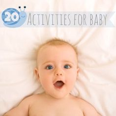 Looking for new things to play?  Check out all these ideas. Pretty simple stuff. Sits says for 1 year olds, but good ideas for babies who are 6+ months