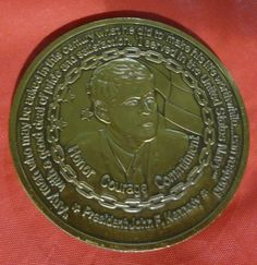 U.S. Navy Recruiting Command Challenge Coin W President JFK/ Navy Chief Coins