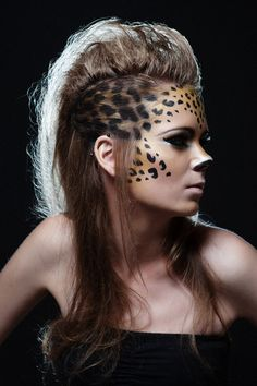 leopard makeup - Google Search