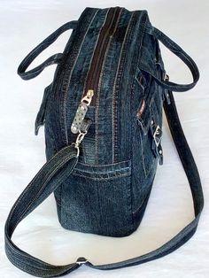 Denim Backpack, Denim Purse, Mochila Jeans, Jean Diy, Denim Handbags, Denim Crafts, Denim And Lace, Blue Denim, Diy Jeans