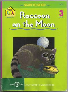 1996 Raccoon On The Moon Bruce Witty Paperback Book Level 3 Ages 5-7 Learning