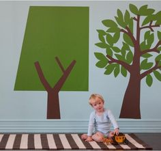 Large tree wall decals by dwell $50