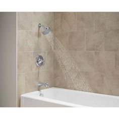 KOHLER Willamette 1-Handle Tub and Shower Faucet in Polished Chrome ...