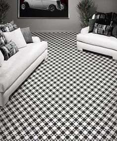 Kane Carpet Media Metrics - Celestial  Modern Black / White Collection
