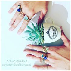 ✨ RiNgS riNgS RiNgS & many more Pretty Found Things. Treat yourself to something pretty: www.prettyfoundthings.co.za  #rings #jewellery #gold #silver #gemstones #diamonds #prettyfoudthings #shoponline #musthavemonday #showmeyourrings
