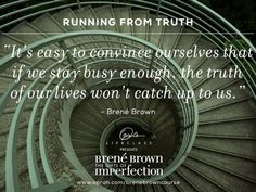 Running from truth