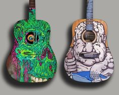 paintings on acoustic guitars - Google Search
