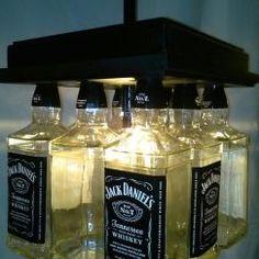 Jack Daniels Bar Light Visit www.BottleHeaven.com for all my other Art