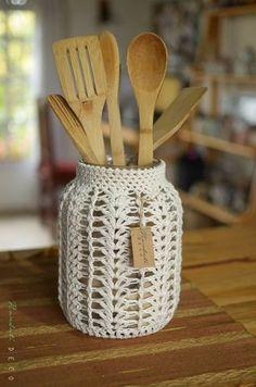 Вязаные мелочи для уютного дома, идеи