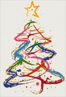 Yiota's Cross Stitch: Christmas tree cross stitch kits