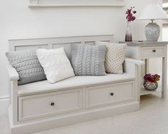 hallway decorating 528398968780355362 - The hallway benches: functional, spacious and decorative Hallway+Storage+Bench+-+Studley Hallway Storage Bench, Wall Bench, Storage Bench Seating, Bench With Shoe Storage, Seat Storage, Hallway Seating, Kitchen Storage Bench, Entryway Stairs, Hall Storage Ideas