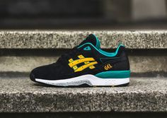 Asics GT Quick   Black   Fusion Gold   Teal