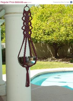 4th of July Sale Macrame Plant Hanger Scalloped by magnumrx, $53.96