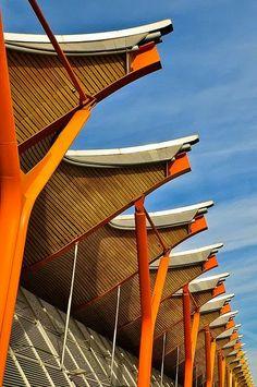 Diseño RIchard Rogers. Aeropuerto Barajas, Madrid.