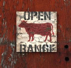 Open Range with Cow / Bull Western style Wall Art by Aaron Christensen- Multiple Sizes Available