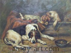 AA04DG001 (4)-Dog-China Oil Painting Wholesale | Portrait Oil Painting| Museum Quality Oil Painting Reproductions