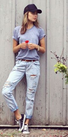 {for Ceci} this boyfriend jeans outfit is so cute!