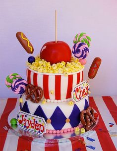 YUM. YUM. YUM. A carnival cake worthy of a prize!