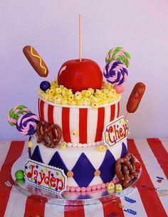 YUM. YUM. YUM. A carnival cake worthy of a prize!