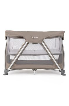 nuna 'SENA™' Travel Crib at Nordstrom.com. Travel becomes less hassle with nuna's innovative SENA crib. The easy-open playspace features a snap-on bunk to keep younger babies closer to hand, and a plush, quilted mattress pad that fits on the upper bunk or lower floor level. A smart, zigzag leg design allows one-hand fold-up, and everything folds with the frame for easy packing. Skid-proof feet and padded edges ensure quiet, pinch-free operation, so you and baby ...
