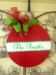Personalized Wooden Ornament Door Hanger by Boutique31creations, $40.00