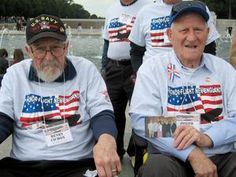 Henry Cichon, 88, left, and his brother, Joseph, 90, view national monuments in Washington, D.C., as part of Honor Flight, a service that flies veterans to the nation's capital to view World War II monuments.