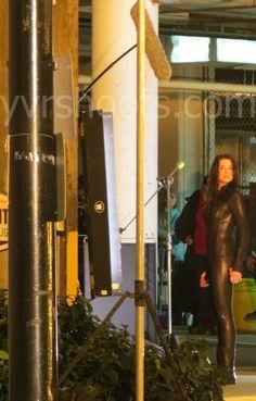 Rachel Nichols in her black suit for Continuum Season 2 Episode 1
