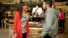 Chas and Aaron in The Woolpack - Emmerdale - ITV