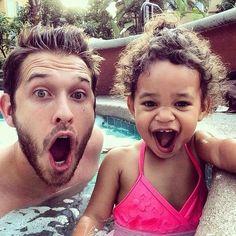 Daddy and daughter #Fatherhood #Biracial