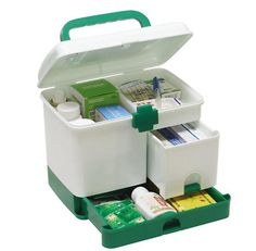New Arrivals Household Medicine Storage Multi-Purpose Storage Box First Aid Medical Storage Box Health Care Large Capacity Free Survival Gear - Knick Knack Shop - 1 Medicine Storage, Home Medicine, Medicine Organization, Organization Hacks, Medicine Cabinet, First Aid Kit Box, First Aid For Kids, Furniture Box, Storage Boxes