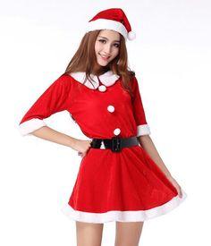 ¿Quieres un traje de Mama Noel? En Aliexpress lo encontrarás con descuento.  #Navidad #PapaNoel #MamaNoel #vestido #fiestas