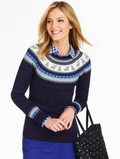 Talbots - Reindeer Fair Isle Sweater | Sweaters |