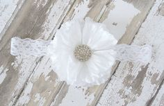 White Chiffon Flower Blossom Hair Clip with by LittleLovesAndStuds