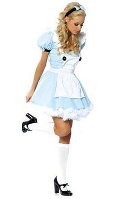 Thanks to Tim Burton's 2010 movie, the Alice in Wonderland costume has once again become a popular choice for Halloween, or any other costume party. Sexy Adult Costumes, Halloween Party Costumes, Costumes For Women, Costume Ideas, Woman Costumes, Pirate Costumes, Princess Costumes, Disney Costumes, Halloween Makeup