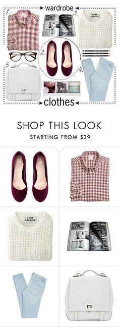 """""""wardrobe clothes"""" by wolfskiv ❤ liked on Polyvore featuring H&M, Brooks Brothers, Acne Studios, Marc by Marc Jacobs, Proenza Schouler and Polaroid"""