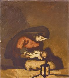Albin Egger-Lienz (Austrian, 1868-1926) Madonna with Child, 1920-1922