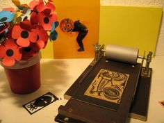 thegreatgrowinggallery: homemade printing press