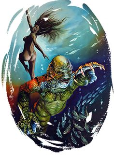 Creature from the Black Lagoon - classic Universal monster mayhem with the Gillman. Art by Rick Melton.
