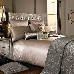 Kylie Minogue at home Taupe embellished 'Miriana' bedding set- at Debenhams…