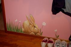 Murals For Girls Rooms Cute Mural Idea For A Girls Room