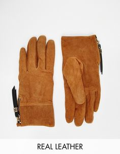 River Island Quilted Suede Glove