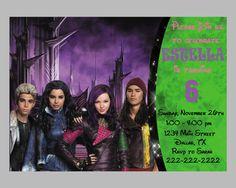 Disney Descendants Invitation By Belgartstudio