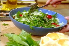 Orzo with Spinach and Tomatoes Recipe -- want to try this with wheat berries