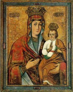 An icon of Mary from the collection of the National Art Museum of Belarus.