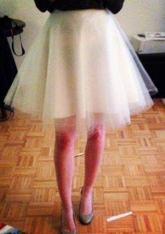 DIY Sew: Tulle Skirt - The Crafty Novice