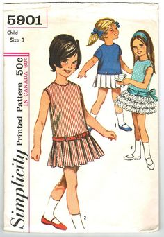 Simplicity 5901 Vintage 60s Twirly Skirted by PatternPlaying