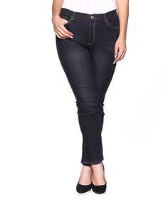 Look at this #zulilyfind! Black Distressed Skinny Jeans - Plus #zulilyfinds